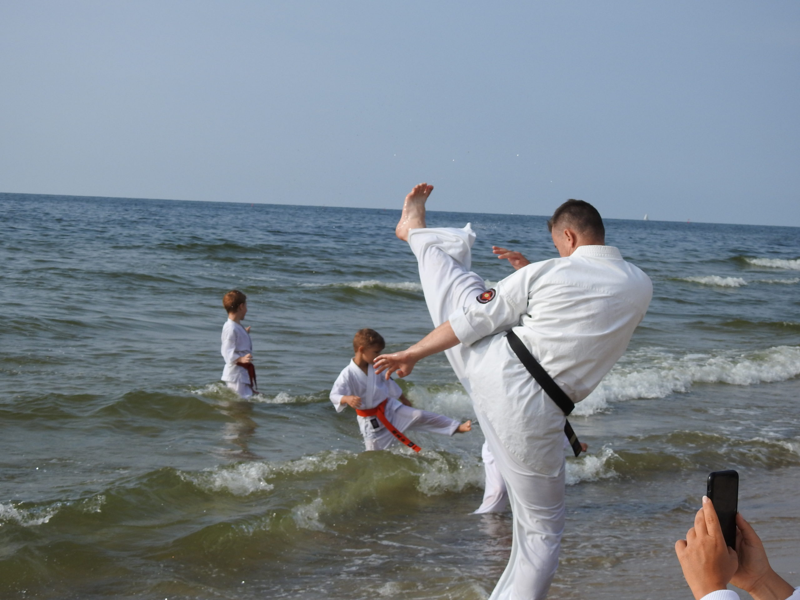Trening na plaży.
